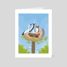 Teatime at the Stork's Nest - Art Card by Jonas Laugs