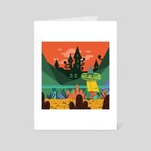Cucumber boy - Art Card by Vivvian