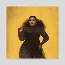 Lizzo - Canvas by Sasha Barysheva