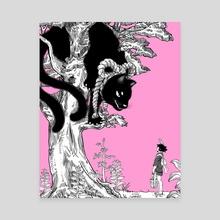Tomoya and the Nekomata - Canvas by Kotaro