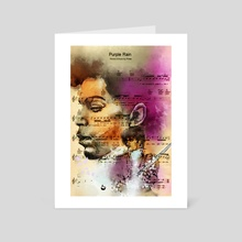 Purple Rain Forever - Art Card by Howard Barry