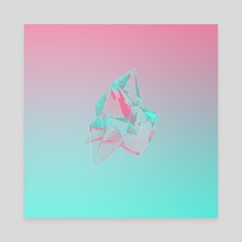 Crystals No.1 - Canvas by Nicholas Rivas