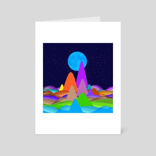 Fanciful Hills -3 by Vidka Art