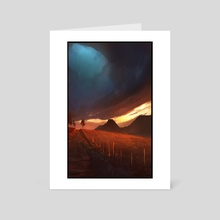 Sundown v1 - Art Card by Steve Hamilton