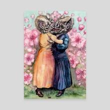 Bloodflowers kiss - Canvas by Josephine  Estey