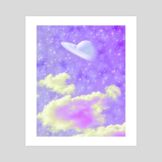 purple planet. by fuschia blue