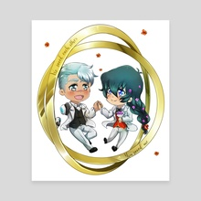 Just Married - Canvas by Iwonn