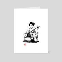 shamisen - Art Card by philippe imbert