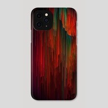 Volcanic Glitches - Abstract Pixel Art - Phone Case by Jennifer Walsh