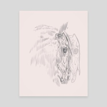 Ghost horse  - Canvas by Pablo Puentes