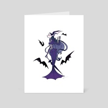 Lady is a Vamp - Art Card by Emily Cannon