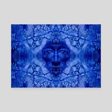 Blue portrait 2 - Canvas by Gvardian Gyula