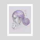 Hydrangea Girl - Art Print by Jacey Chase