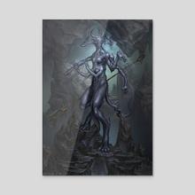 Cave Demon - Acrylic by Daniel Mitchell