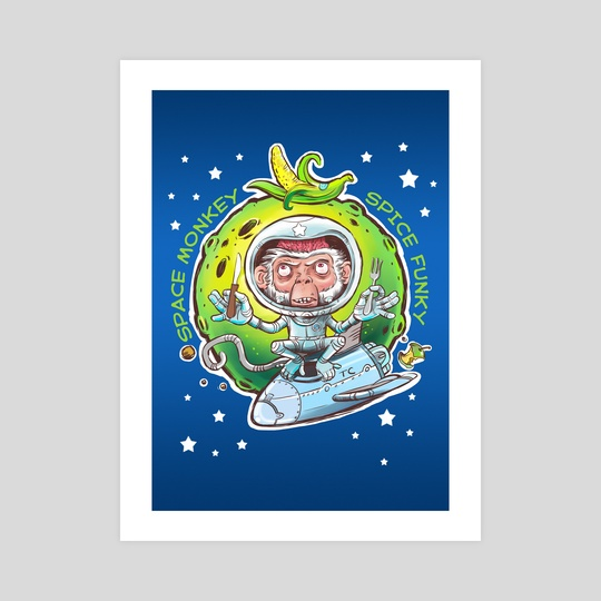 Space monkey by Tatiana Soynikova