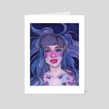 MERMAID BLUE - Art Card by Daylen Saenz