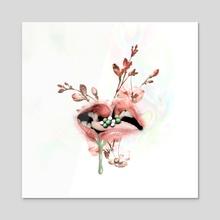 seeds of passion - Acrylic by Mahima Chaudhury