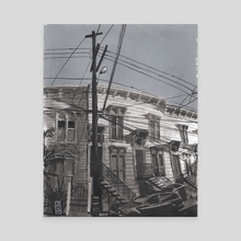 Linden Street 002 - Canvas by Christian MacNevin