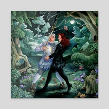 Sword Serenade - Acrylic by Mar Spragge