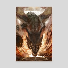 Of Fire and Fury - Canvas by Lindsey Burcar