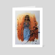 Egyptian Bead Dress - Art Card by Hlblng