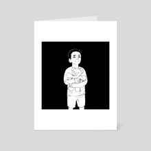 Baby Julian and Kukalaka - Art Card by bardicious