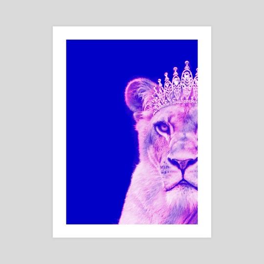 Lioness Queen - Glitch design by Stefano Mendoza