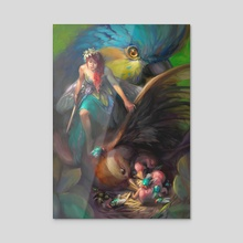 Paradise Island  - Acrylic by Magda Proski