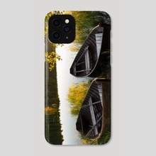 Boats on the river - Phone Case by Violetta Derkach
