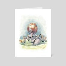 A Mermaid's Lunch - Art Card by Edgar Covarrubias