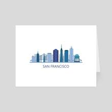 Skyline san francisco - Art Card by Marco Livolsi