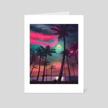 Fake Sunset - Art Card by squeecaf
