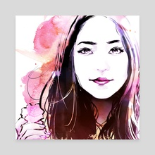 Cotton Candy Yeri - Canvas by Andres Labrada