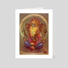 Lord Ganesha - Art Card by Anastasia Kalogeropoulou