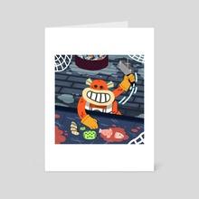 Chop - Art Card by Vivvian