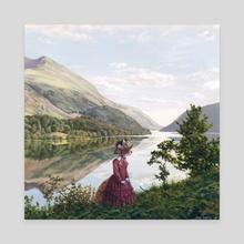 Lady Fox - Canvas by Erik Krenz