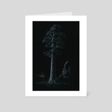 Sequoiadendron giganteum - Art Card by Krzysztof Wielkopolski