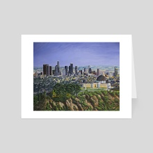 Los Angeles Skyline - Art Card by Andy Villon