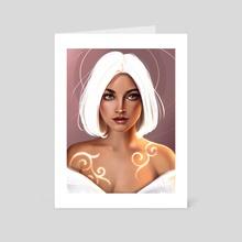 The white Lady - Art Card by Pauline Wisp