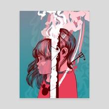 Heartless - Canvas by Carolina Rodriguez Fuenmayor