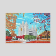 Autumn Salt Lake City, Utah LDS Temple - Canvas by Brian Sloan