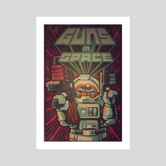 Guns in Space by Paul T