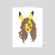 Pikachu Costume - Art Card by Allissa Magee
