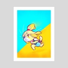 Action Isabelle (AC Series 1 of 2) - Art Print by Worth Dayley