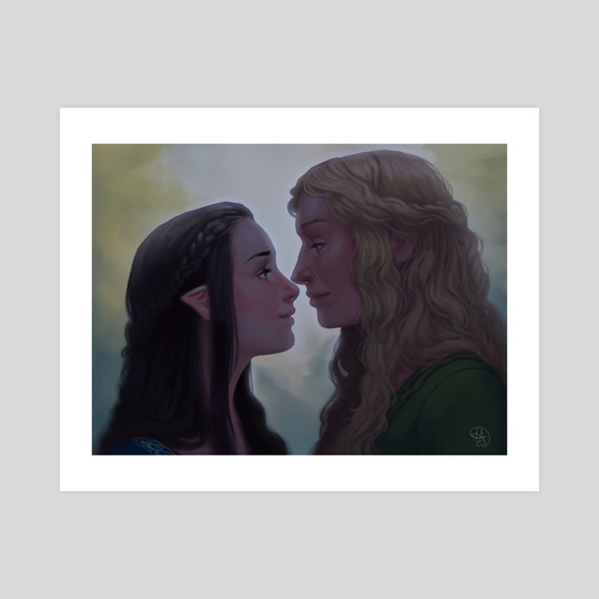Arwen and Eowyn  by Mali Ware