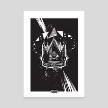 Glitched Crown - Canvas by Wadim Hermann