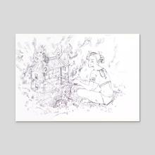 DOLL HOUSE - Acrylic by Drawnk