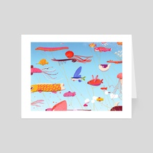 Meet in Koinobori - Art Card by Tina Tamay