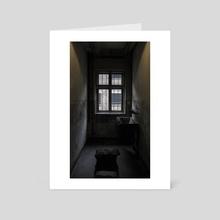 Bath at Auschwitz - Art Card by Oscar Manuel Calleja Hermosa