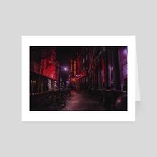 Red Nights - Art Card by SARAH TSANG